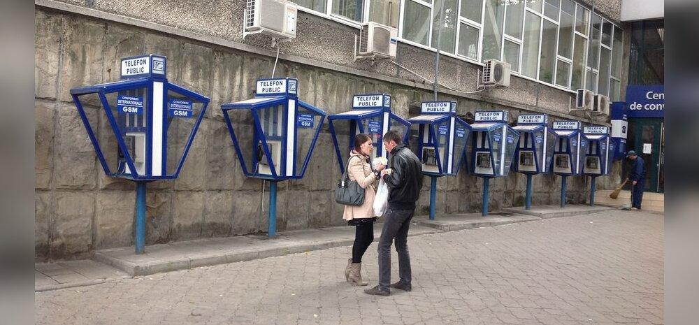 Pealinnas Chişinăus võib näha vanu telefonikabiine, mis on Eestis ammu minevik.