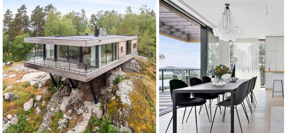 FOTOD | Kaljurahnule rajatud moodne ja minimalistlik villa