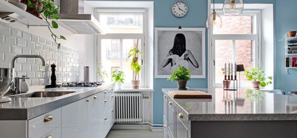 FOTOD | Kaunis kodu helesinise köögiga