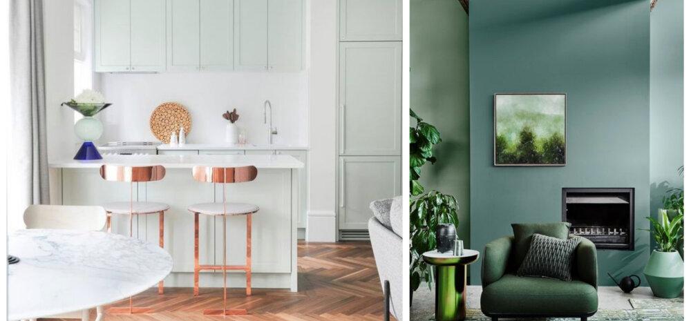 Milliseid värvitoone kasutada trendika kodu interjööris?