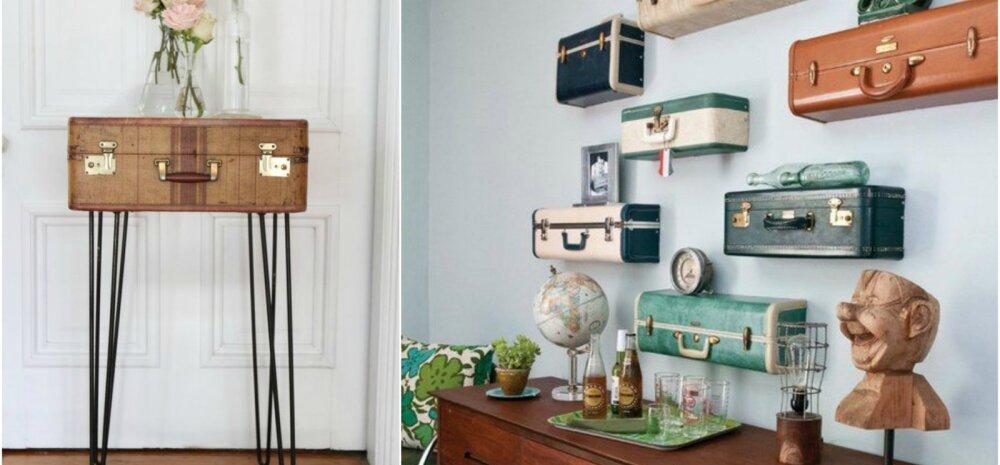 Vaata lahedaid ideid, kuidas interjööris vanu kohvreid kasutada