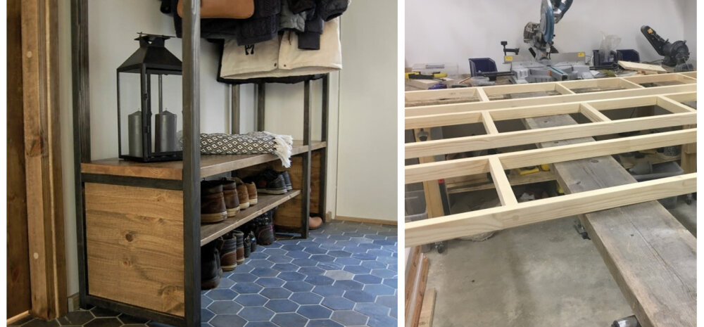 KODUBLOGI | Kuidas me esikusse ühe korraga pingi, riiulid ja stange ehitasime