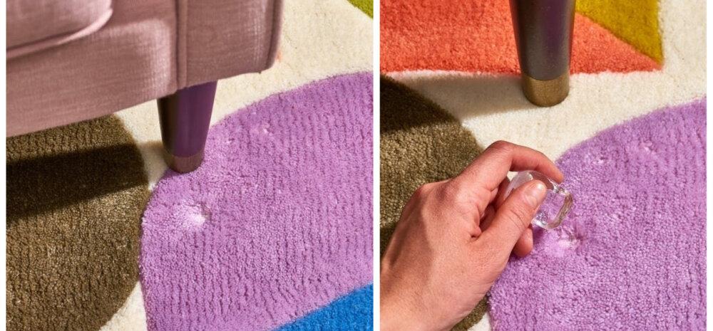 НА ЗАМЕТКУ | Как с помощью кубиков льда избавиться от вмятин на ковре