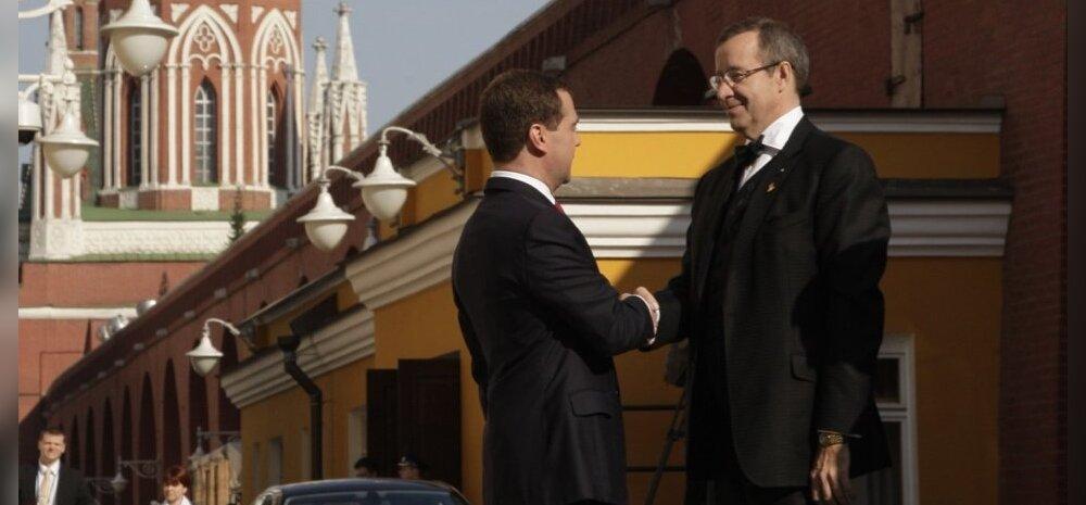 Medvedev: suhted Eestiga ei parane Ilvese pärast
