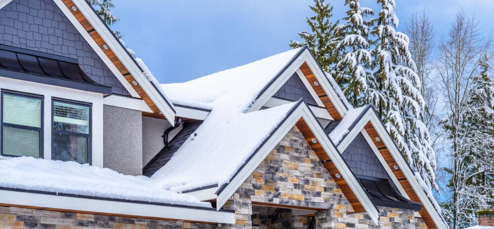 Tänapäeval saab uut katust ehitada ka talvel