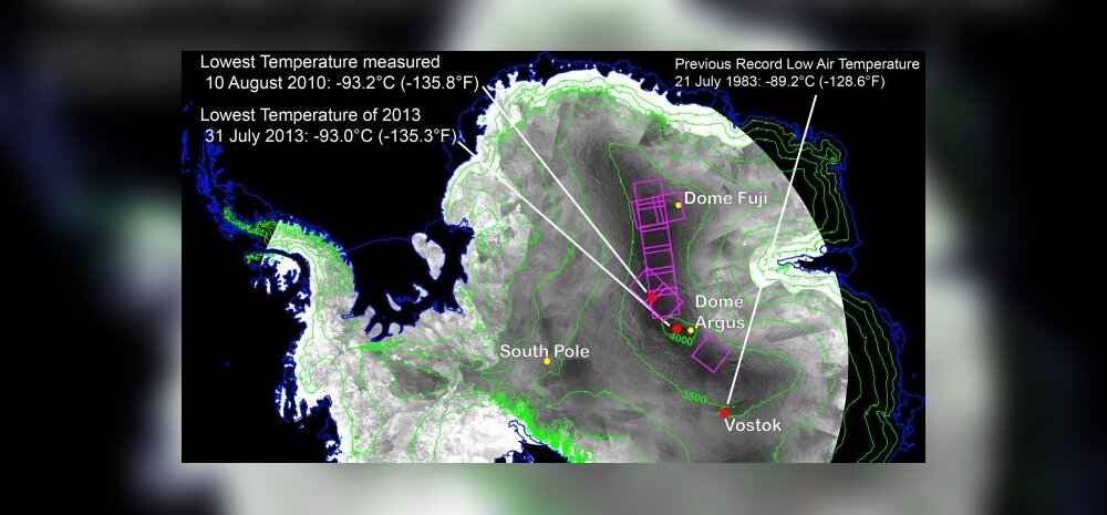 Antarktika külmapunktid