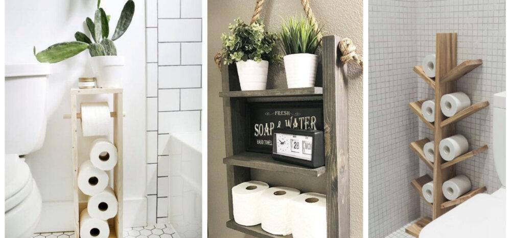 ФОТО | Запаслись туалетной бумагой? 10 стильных идей, как ее хранить