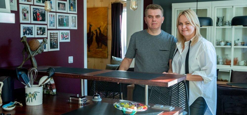 Tallinna südalinnas aasta tagasi oma sisustus- ja mööbliäri avanud Liina ja Lauri Treimann elavad ühist elu nii tööl kui ka kodus.