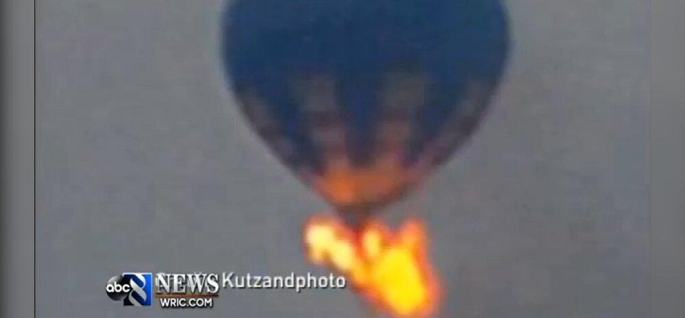 VIDEOD: Virginias süttis lennu ajal kuumaõhupall