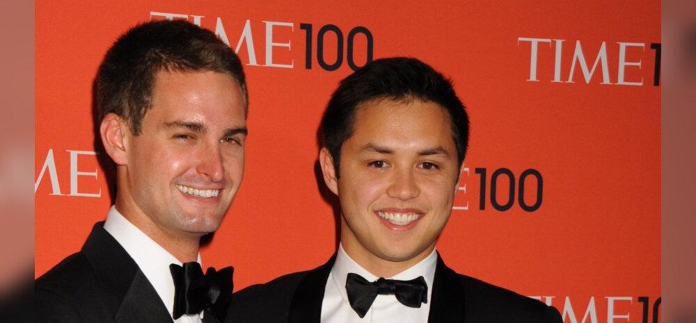 """Evan Spiegel ja Bobby Murphy. Maailma noorimad """"self-made"""" miljardärid."""