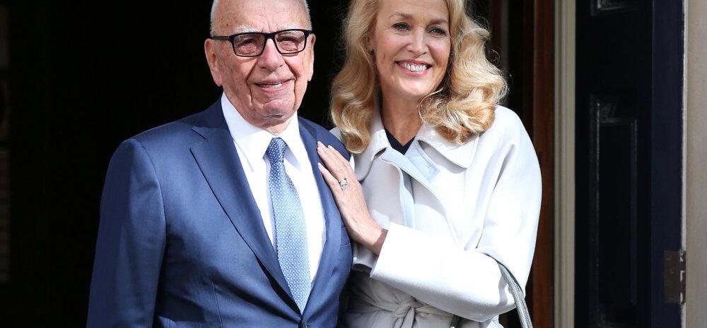 Hõissa pulmad! Mick Jaggeri eksnaine Jerry Hall abiellus meediamogul Rupert Murdochiga