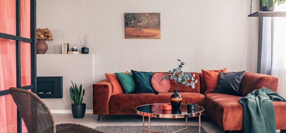 Kuidas sisustada elutuba mugavalt ja hubaselt?