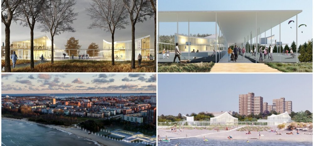 ФОТО | Победителем конкурса эскизов на пляжное здание Штромки стал проект Rannahoov, хотя жители Таллинна проголосовали за другую работу