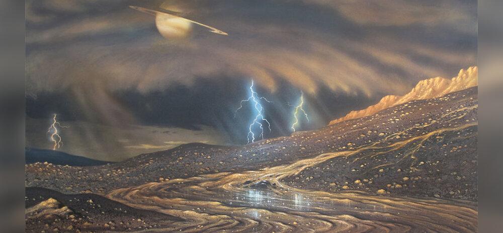 Kunstniku kujutis Titani pinnast. David A. Hardy (AstroArt) / NASA
