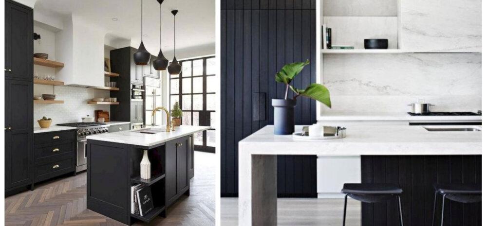 10 stiilset mustvalget kööki, millest inspiratsiooni ammutada