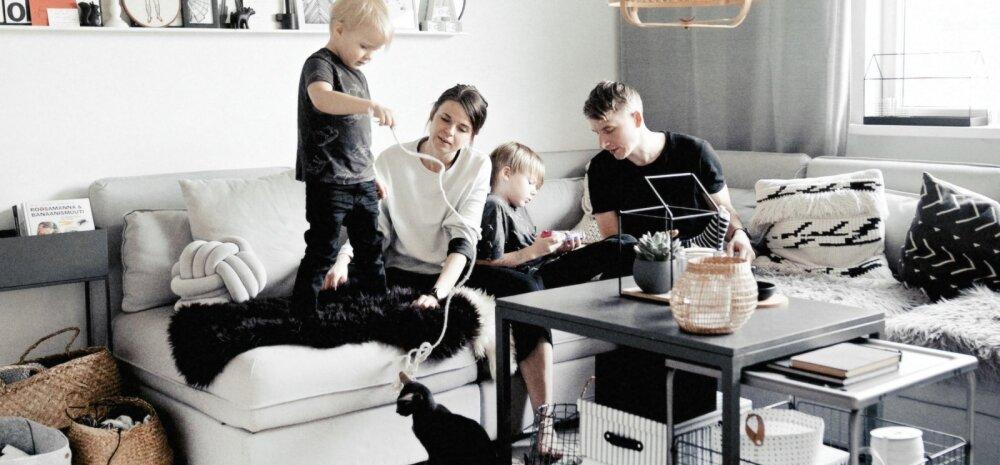 Blogija Anna Lutteri stiilne mustvalge kodu paneelmajas