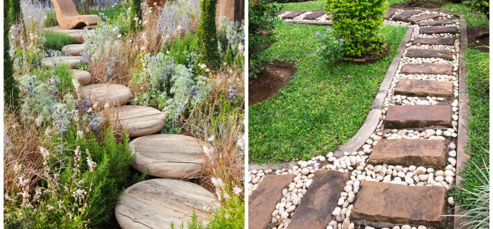 FOTOD │ Kaunilt kujundatud teerada ilmestab aeda