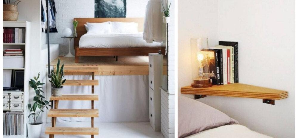 12 inspireerivat ja ruumi säästvat ideed pisikesse magamistuppa