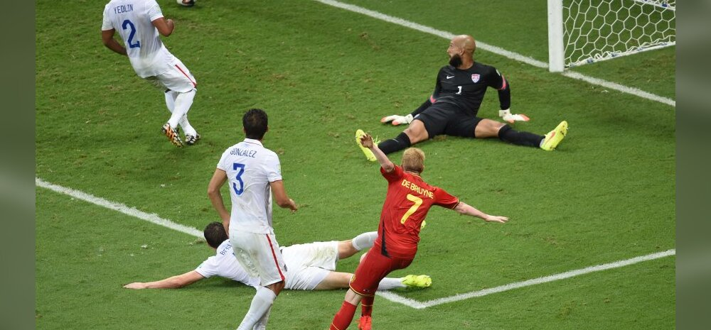 Belgia - USA mängu esimene värav