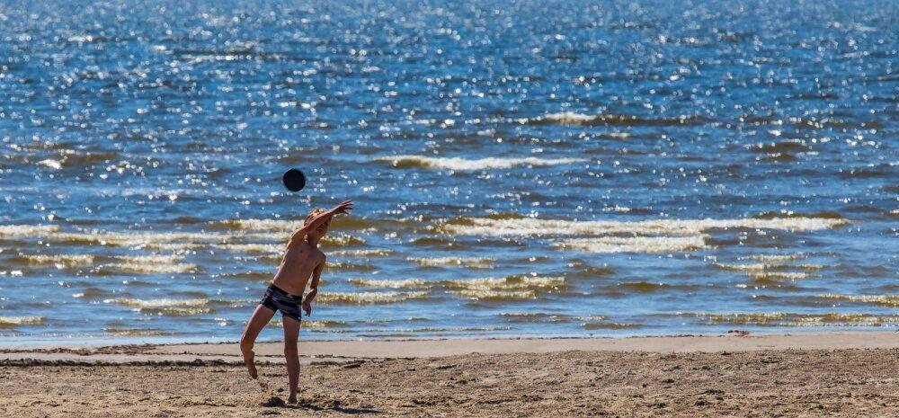 Eesti suurimates supluskohtades on vesi ujumiseks paras.