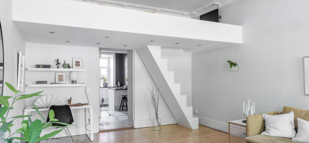 Nutikalt sisustatud ühetoaline korter, mis mõjub suurelt ja avaralt