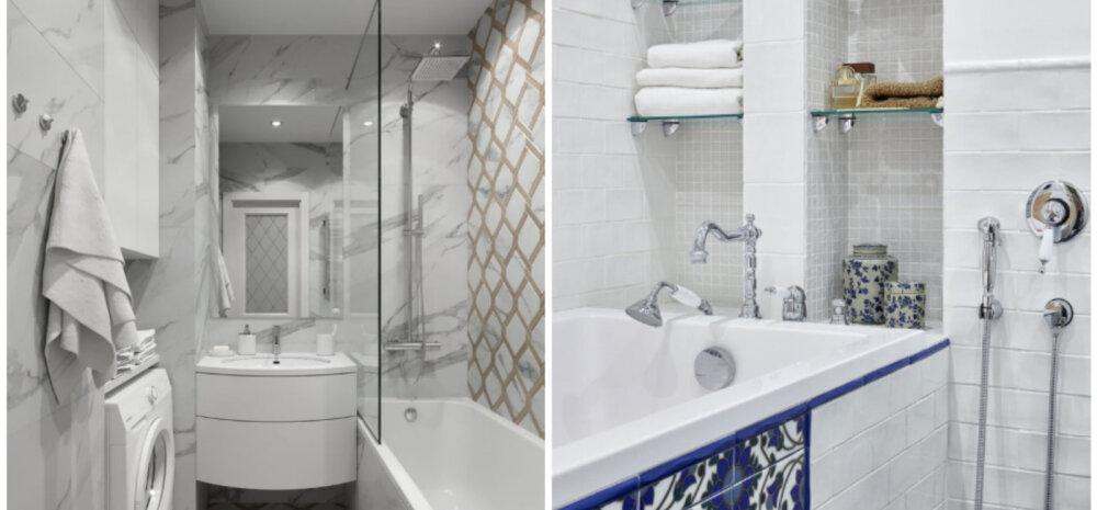 Реальные примеры, как сделать крошечную ванную функциональной