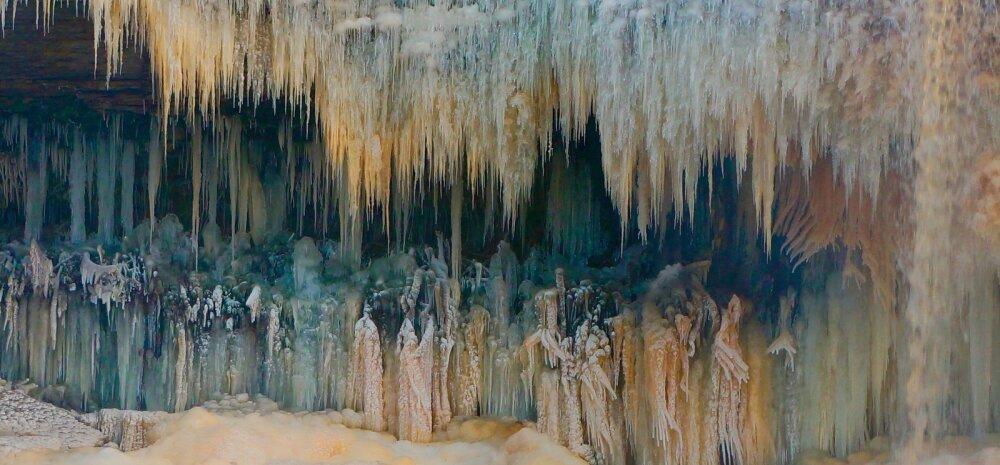 FOTO | Jägala juga on jäätunud kummituslikult kauniks stseeniks