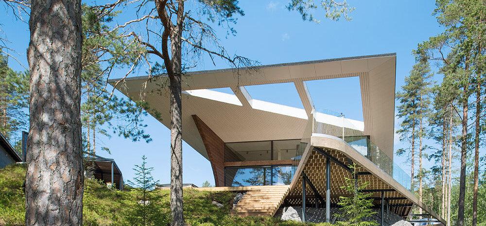 Inspireerivaim kodu välismaal on arhitektuurne kunstiteos Saimaa rannal