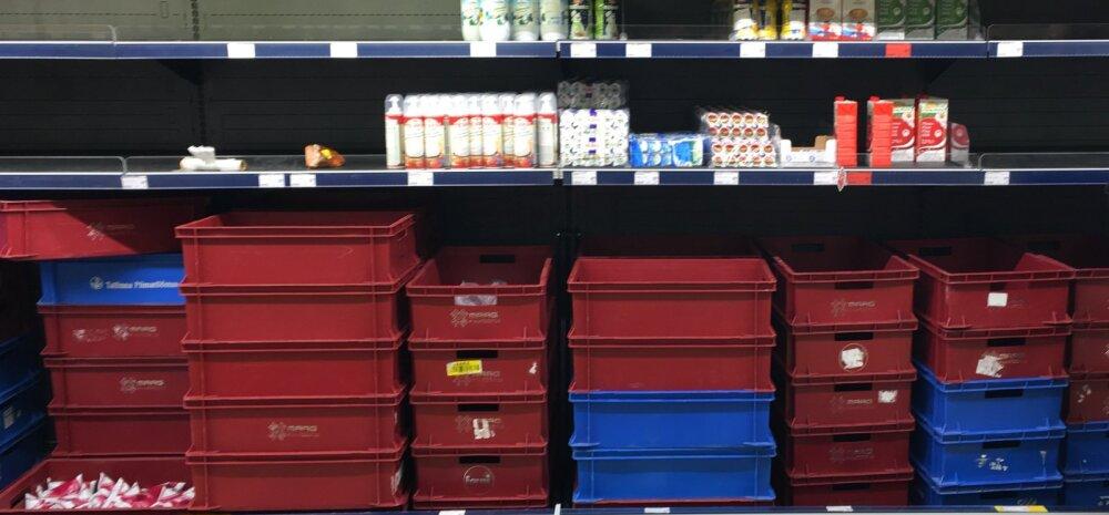 FOTO: Maxima uus keskladu tekitas piimapaanika: Tallinna ja Tartu poed on piimast tühjad