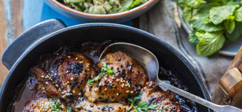Sõbrapäeva RETSEPT: Kleepuvad magusvürtsised kanakintsud hirsi-<em>tabbouleh</em> salatiga