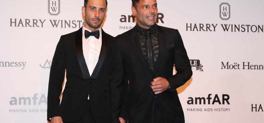 FOTO: Kaunis romanss! Ricky Martin tõi endast 12 aastat noorema meessõbra esimest korda punasele vaibale
