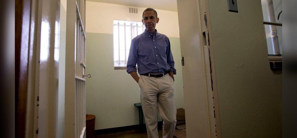 Obama külastas 18 aastat Nelson Mandela elupaigaks olnud vanglat