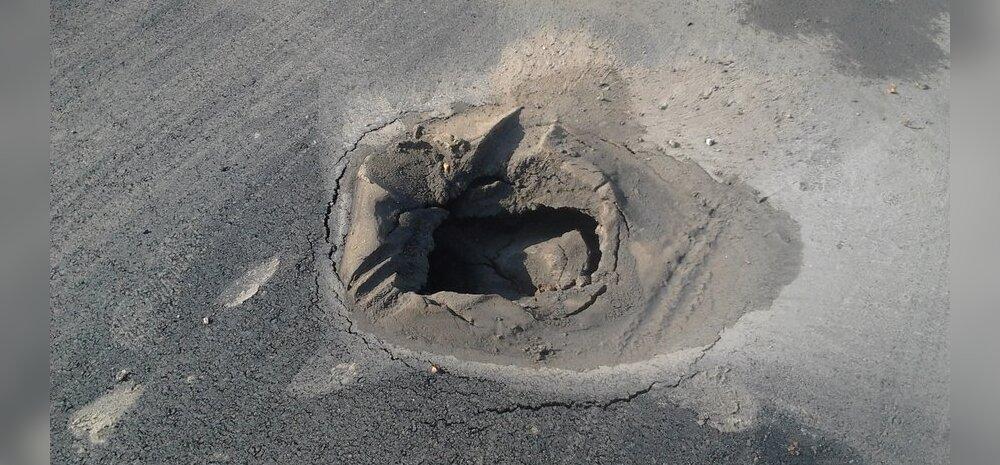FOTO: Tallinna lennujaama juures haigutab keset uut rattateed kraater