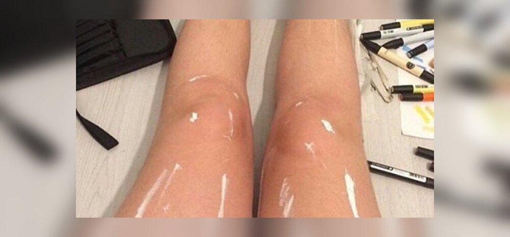 NETIHITT: Optiline illusioon läikivatest jalgadest on interneti kaheks jaganud. Mida näed sina?