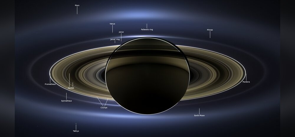 Sealgi pole elu? Cassini harjumatuid vaateid Saturni tagant