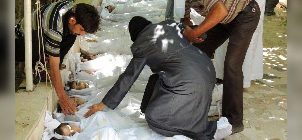 FOTOD JA VIDEO SÜÜRIAST: Kümnendi rängim keemiarünnak: surma sai 1300 meest, naist ja last