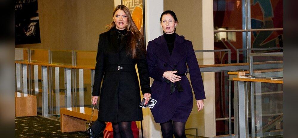 Leinav Anu Saagim külastas Bondi-filmi esilinastust koos õega