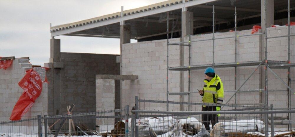 Lidli ehitus Tähesaju teel 28.12.2019