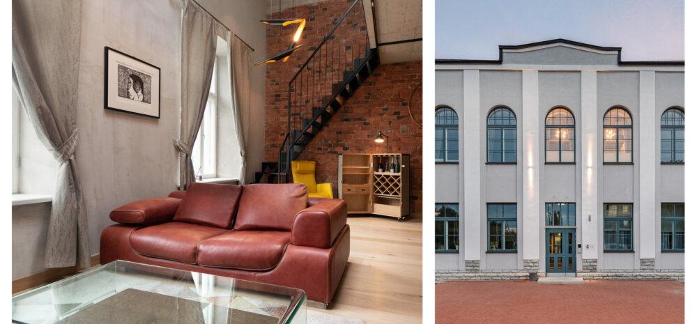 ФОТО   Невероятно стильная двухуровневая квартира в бывшем здании военной школы в Таллинне