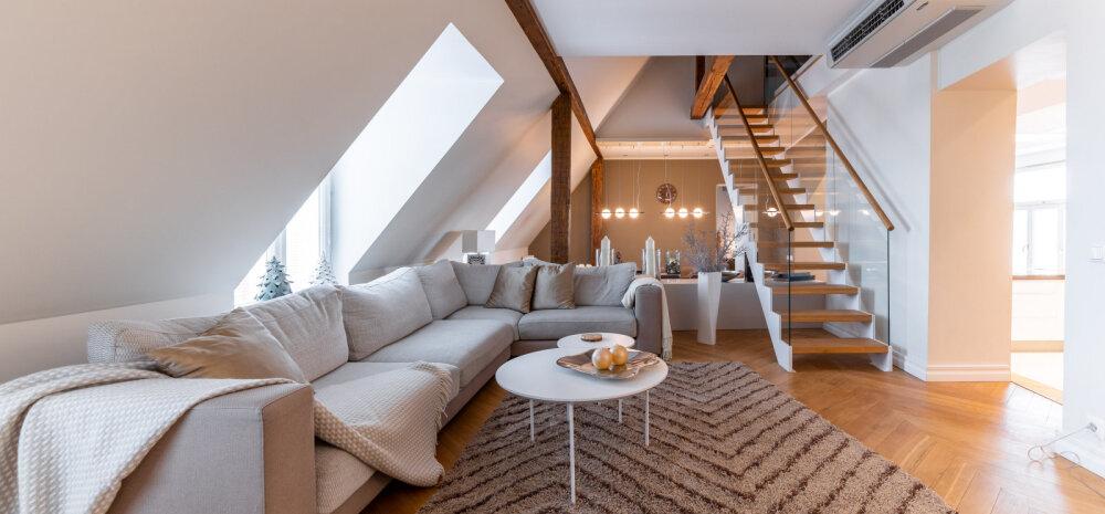 Luksuslik elamine vanalinnas — kodu katusekorrusel