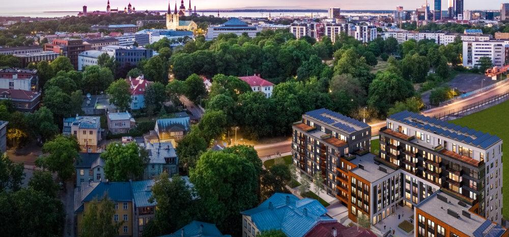 ФОТО | Четыре дома, 109 квартир. В столичном микрорайоне Уус Мааильм заложен краеугольный камень нового жилого комплекса