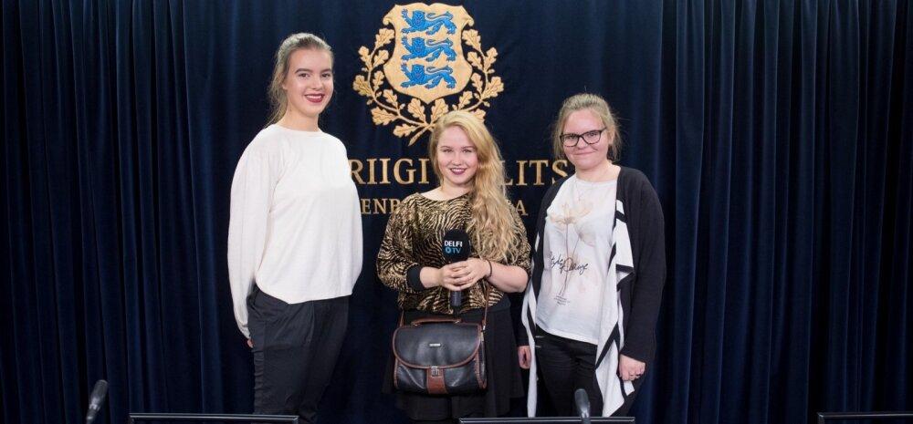 Noorte Hääl valitsuse pressikonverentsil