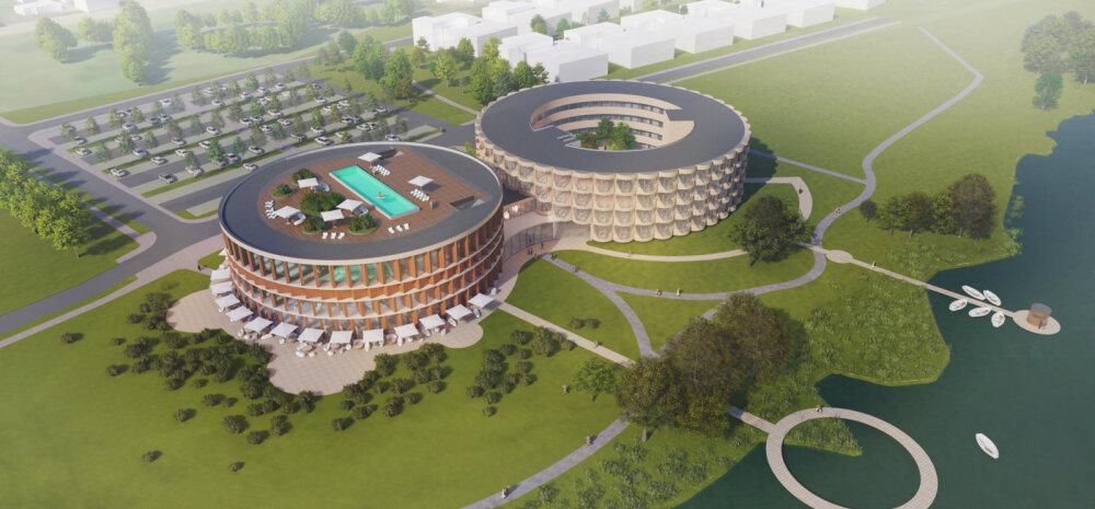 ФОТО И ВИДЕО | Невероятный размах: смотрите, как будет выглядеть новый спа-отель в Эстонии