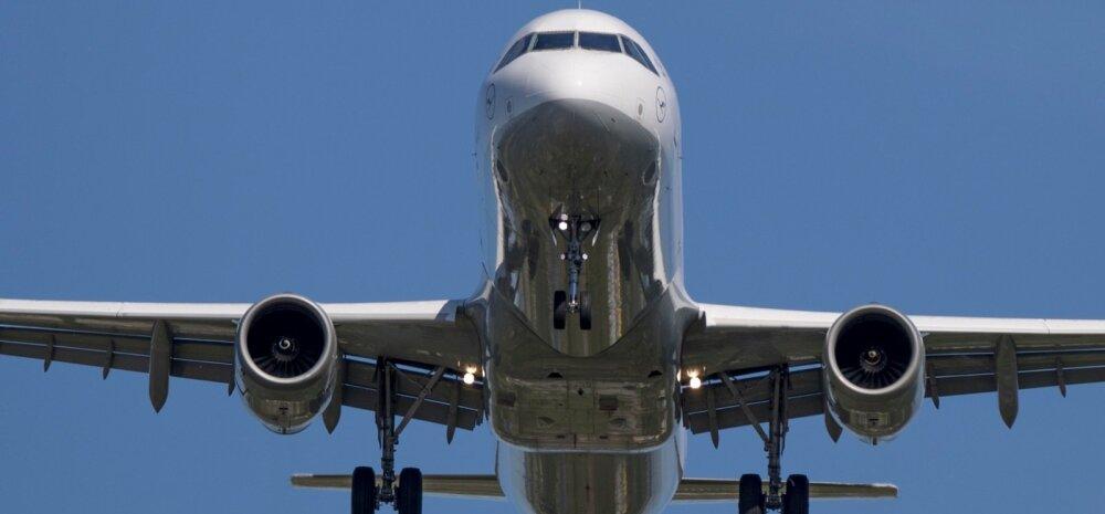 Maanduvad lennukid Tallinna lennujaamas