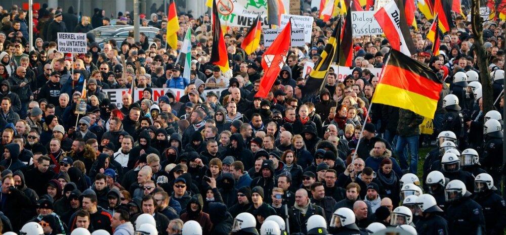 FOTO JA VIDEO: Kölnis avaldas tuhatkond inimest meelt Merkeli migratsioonipoliitika vastu