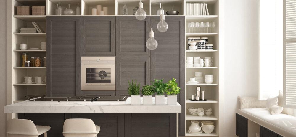 20 ideed, kuidas köögis avatud riiuleid kasutada