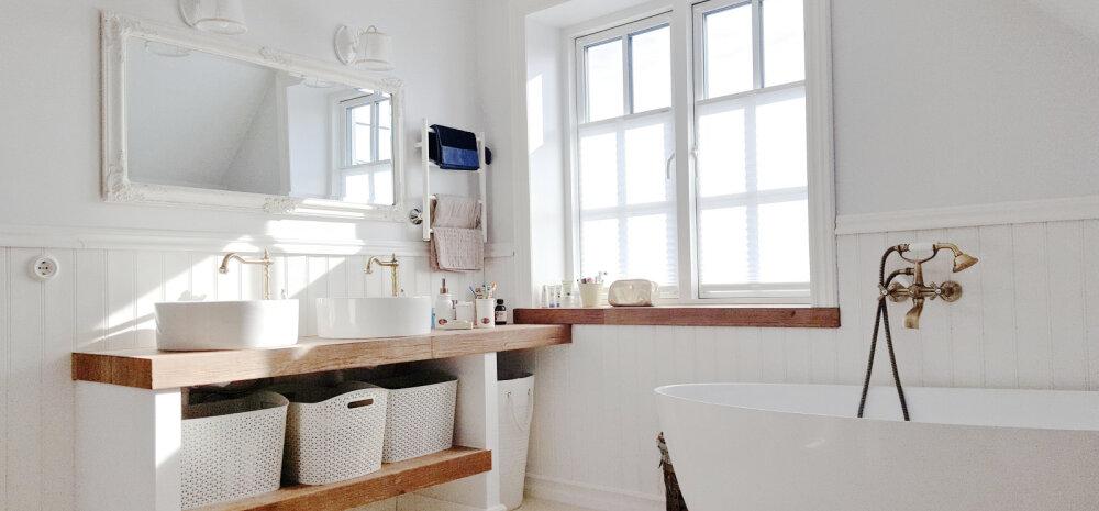 """""""НАШ ДОМ 2018"""" │Вагонка и много белого: ванная комната из Пярну"""