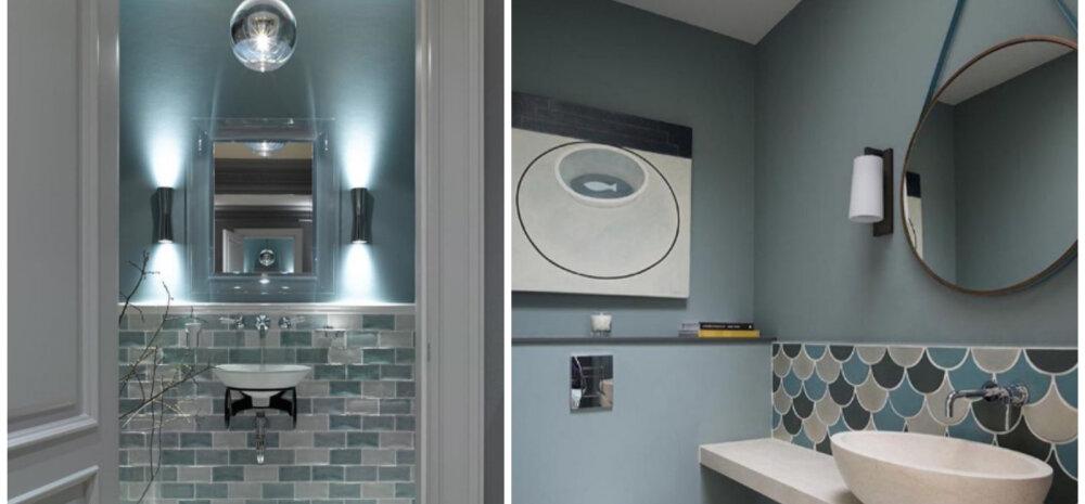 ФОТО │ Крашеные стены в ванной: 10 примеров