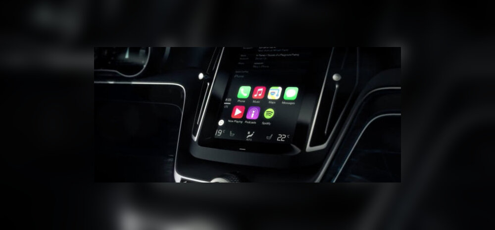 Apple CarPlay Volvo armatuurlaual. https://www.gottabemobile.com