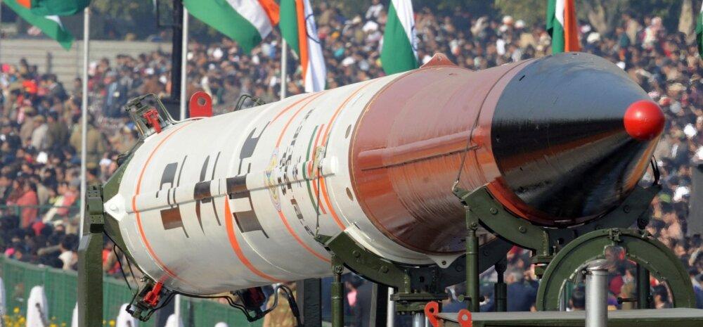 India Agni V-rakett suudaks kanda ka tuumalõhkepead, kuigi paraadil loodetavasti siiski ei kanna.